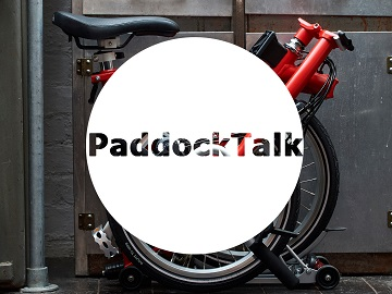 folding bike paddock logo